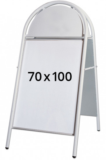 EXPO GOTIK LUX Kundenstopper 32mm 70x100cm Weiss