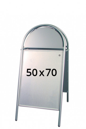 EXPO GOTIK Straßenständer 25mm 50x70cm silber