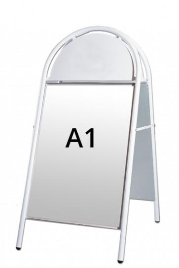 EXPO GOTIK Straßenständer 25mm A1 weiß