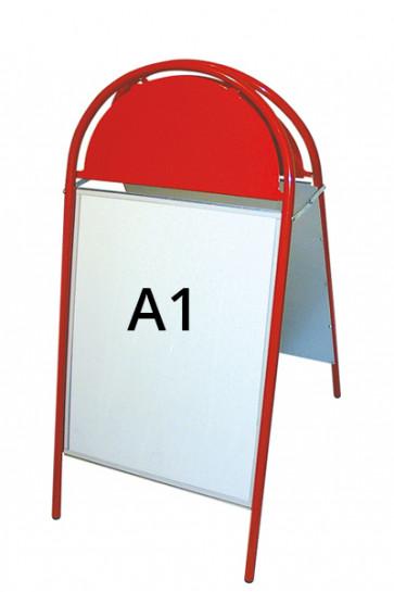 EXPO GOTIK Straßenständer 25mm A1 rot