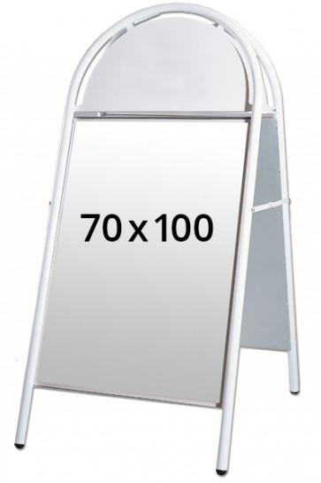EXPO GOTIK Straßenständer 25mm 70x100cm weiß