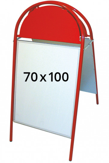 EXPO GOTIK Straßenständer 25mm 70x100cm rot