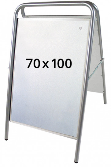 EXPO SIGN LUX Kundenstopper 70x100cm Silber