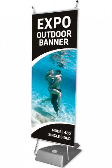 EXPO OUTDOOR BANNER 60x147cm - grau