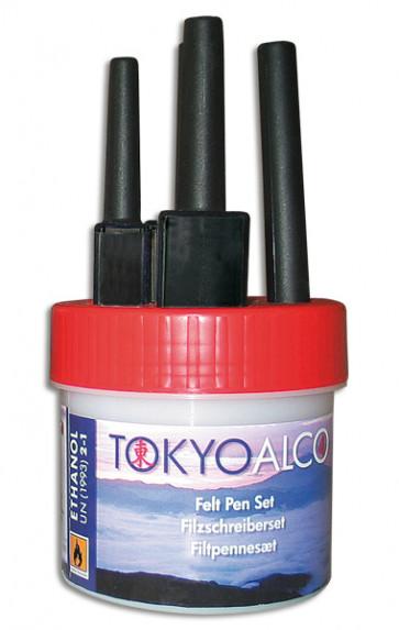 TOKYO ALCO 4 Filzschreibersatz Rot