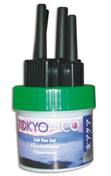TOKYO ALCO 4 Filzschreibersatz Grün