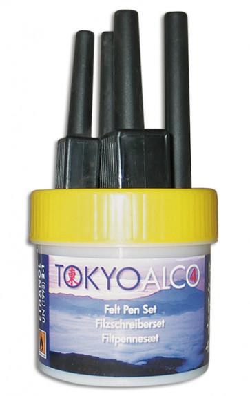 TOKYO ALCO 4 Filzschreibersatz Gelb