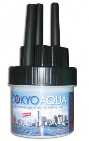 TOKYO AQUA 4 Filzschreibersatz Schwarz