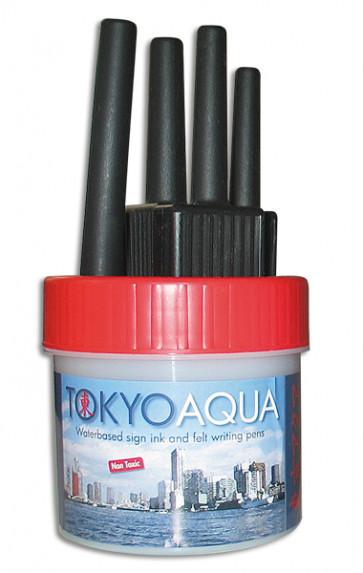 TOKYO AQUA 4 Filzschreibersatz Rot