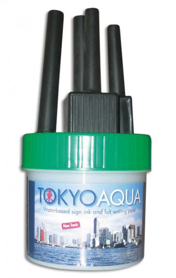 TOKYO AQUA 4 Filzschreibersatz Grün