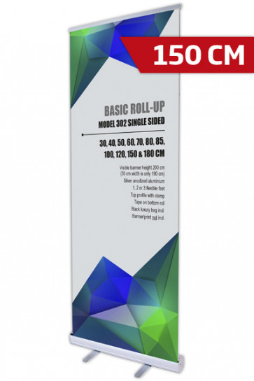 Basic Roll-up, Einseitig Model 150 - alu