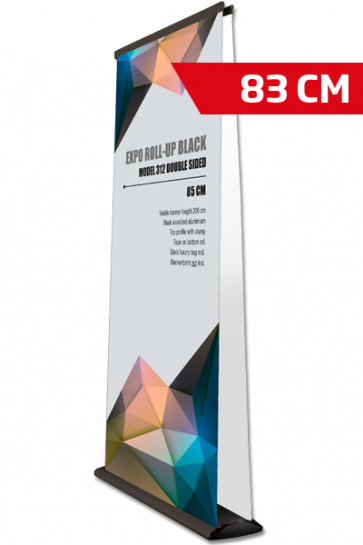 Expo Roll-up, Doppelt Model 83cm - schwarz