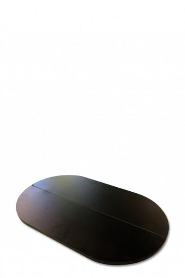 Tischplatte für Pop-Up counter Koffer, zusammenklappbar, schwarz