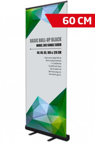 Basic Roll-up, Einseitig Model 60 - Schwarz