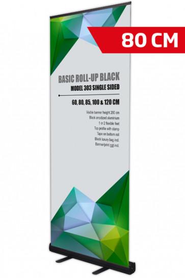 Basic Roll-up, Einseitig Model 80 - schwarz
