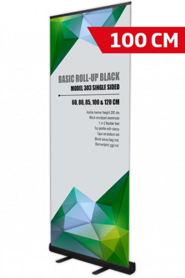 Basic Roll-up, Einseitig Model 100 - schwarz
