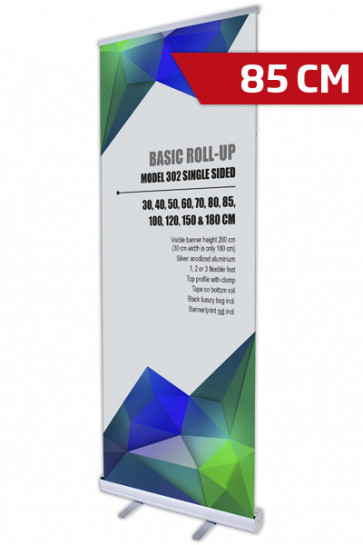 Basic Roll-up, Einseitig Model 85 - alu