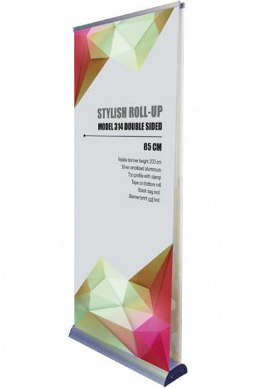 Stylish Roll-up, Doppelseitig 85cm - alu
