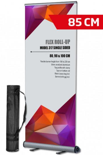 Flex Roll-up, einseitig 85x100-230cm alu - mit Tasche