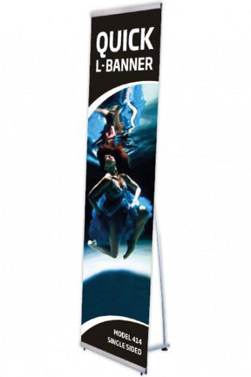 Quick L-Banner, einseitig  40x200cm alu