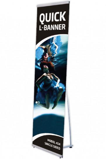 Quick L-Banner, einseitig  50x200cm alu
