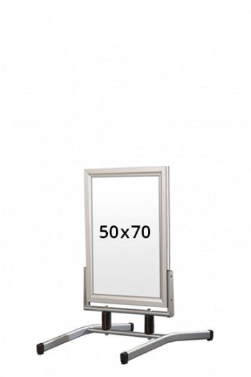 WIND-LINE LUX Straßenständer 45mm (G) 50x70cm alu