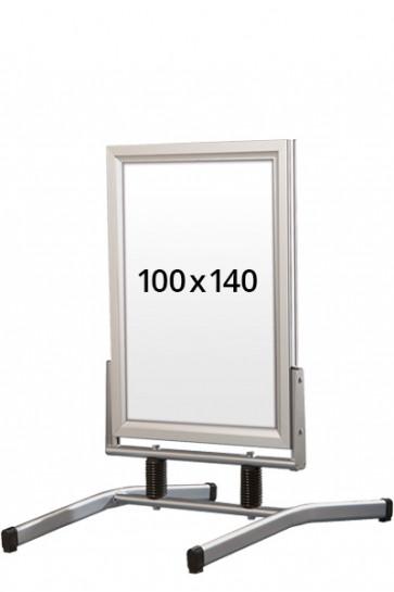 WIND-LINE LUX Straßenständer 45mm (G) 100x140cm alu