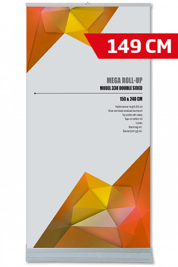 Mega Roll-Up, Model 150 Doppelseitig alu