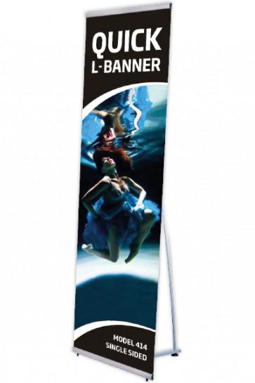 Quick L-Banner, einseitig 60x200cm alu