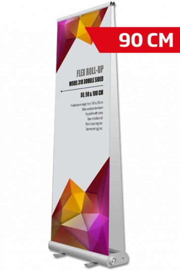 Flex Roll-up, Doppeltseitig. 90x107-237cm alu, mit Tasche