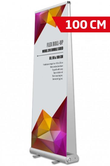 Flex Roll-up, Doppeltseitig. 100x107-237cm alu, mit Tasche