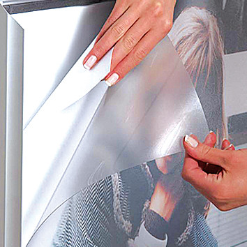 Entspiegelte PET Frontscheibe o/Magnet A4