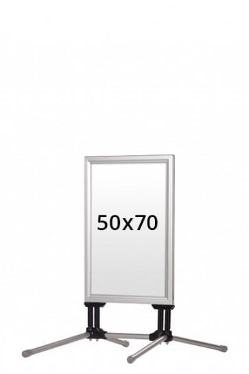 WIND-LINE BUDGET Kundenstopper 40mm (G) 50x70cm alu
