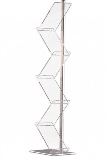 """ZIG-ZAG Brochure Stand """"Prospektständer"""" 6xA4"""