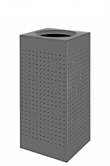Waste Bin Outdoor, RAL 9007, midi 60 Ltr.