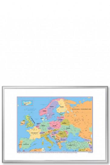 Europe Political Map, 100x70cm
