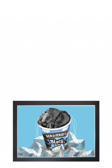 Selbstklebender Plakatrahmen, Kunststoff mit Magnet offen/zu,  A4, Schwarz