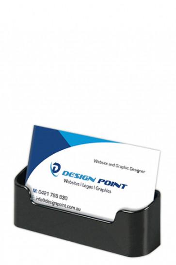 Visitkartenhalter  - rounded -  horisontal - schwarz