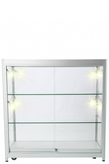 Showcase Counter, Duo - Silber. LED