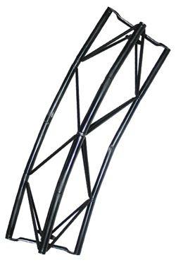 Exibit module Arc 60cm, 45 Grad- schwarz