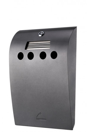 Cigarette Bin convex grey