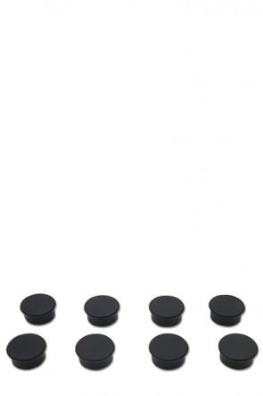 Magnete für z.B. Whiteboards 8 Stück  - schwarz