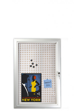 INFOBOX Combi m/Verschluß 45mm 6xA4 Alu