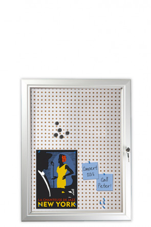 INFOBOX Combi m/Verschluß 45mm 9xA4 Alu
