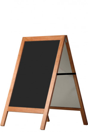 Kundenstopper aus Holz mit Kreidetafel 60x80cm