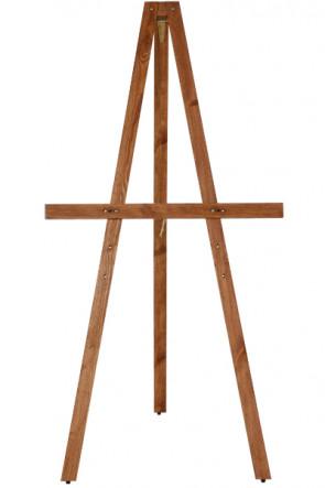 Wooden Stafeli, 165cm. Dark wood