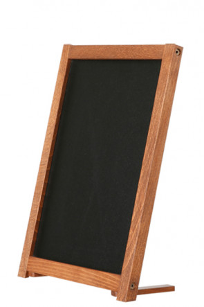 Wooden Table Board with Feet. Dark wood. 12,7x17,8cm