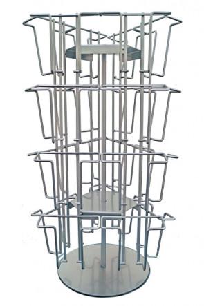 Wireholder Spin Tisch 24 x A6/M65 Silber