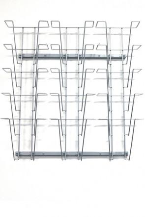 Wireholder Wall, 15xA4 Silber