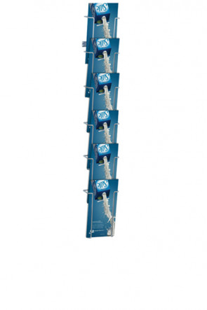 Wireholder Wall 6xM65 Silber